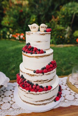 کیک شکلات با میوه