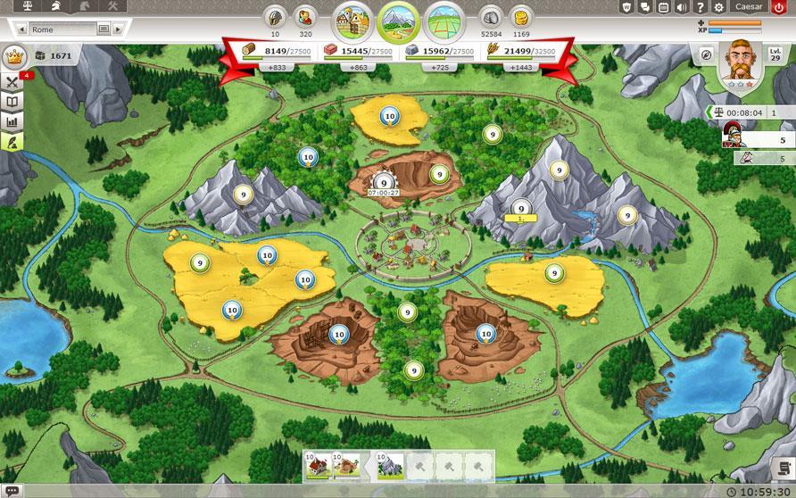 تصویری از یک دهکده در بازی تراویان