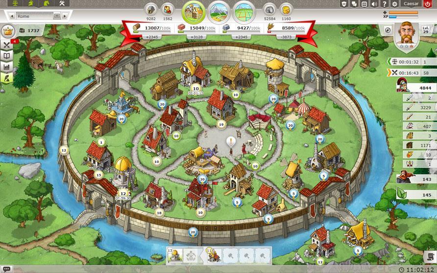 تصویری از مرکز دهکده در بازی تراویان