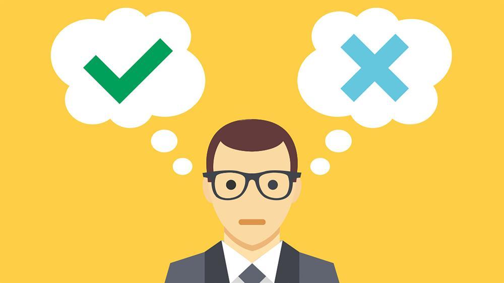 اینکه شما در همان اول چه احساسی نسبت به یک تصمیم دارید می تواند درست بودن یا نبودن تصمیم را مشخص کند