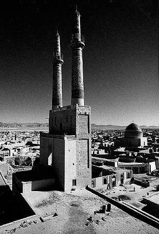 عکسی قدیمی از مسجد جامع یزد