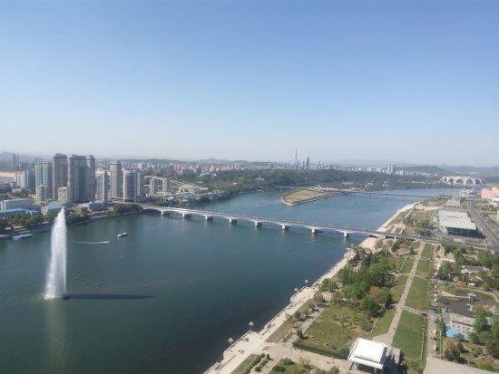 تصویری از رودخانه دیدنی تائدونگ در کره شمالی