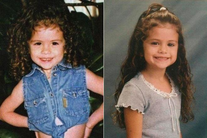 selena gomez childhood
