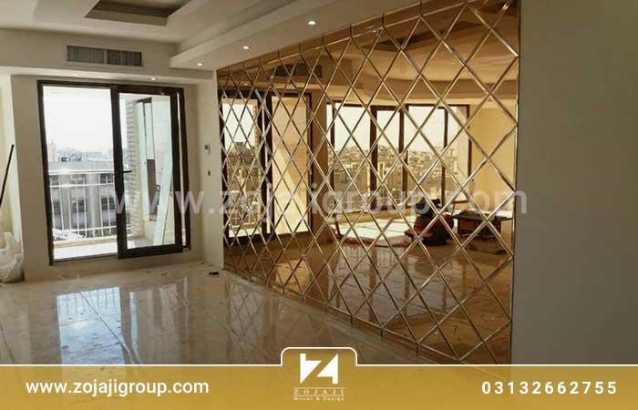 آینه دکوراتیو طلایی