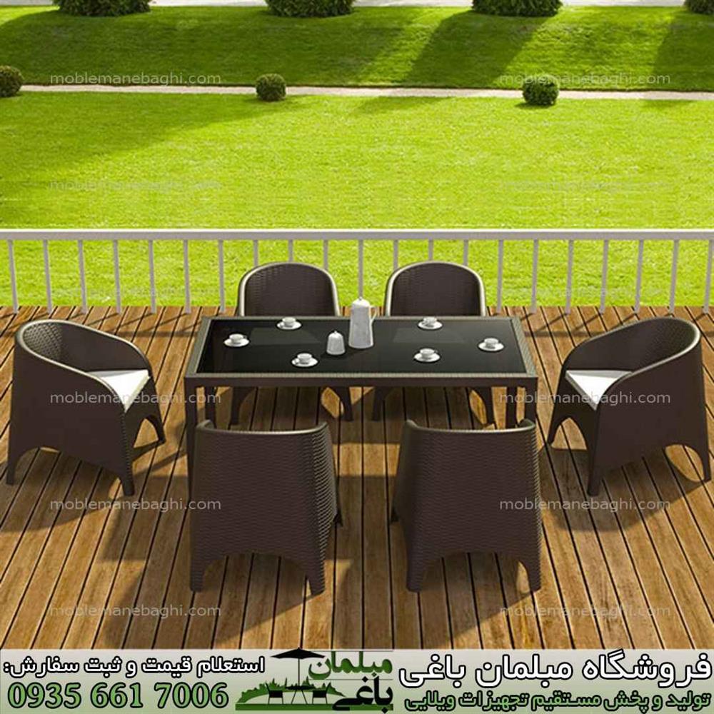 مبلمان حصیری فضای باز باکیفیت و قیمت مناسب ایرانی