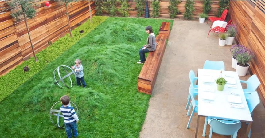 محوطه سازی حیاط پشتی