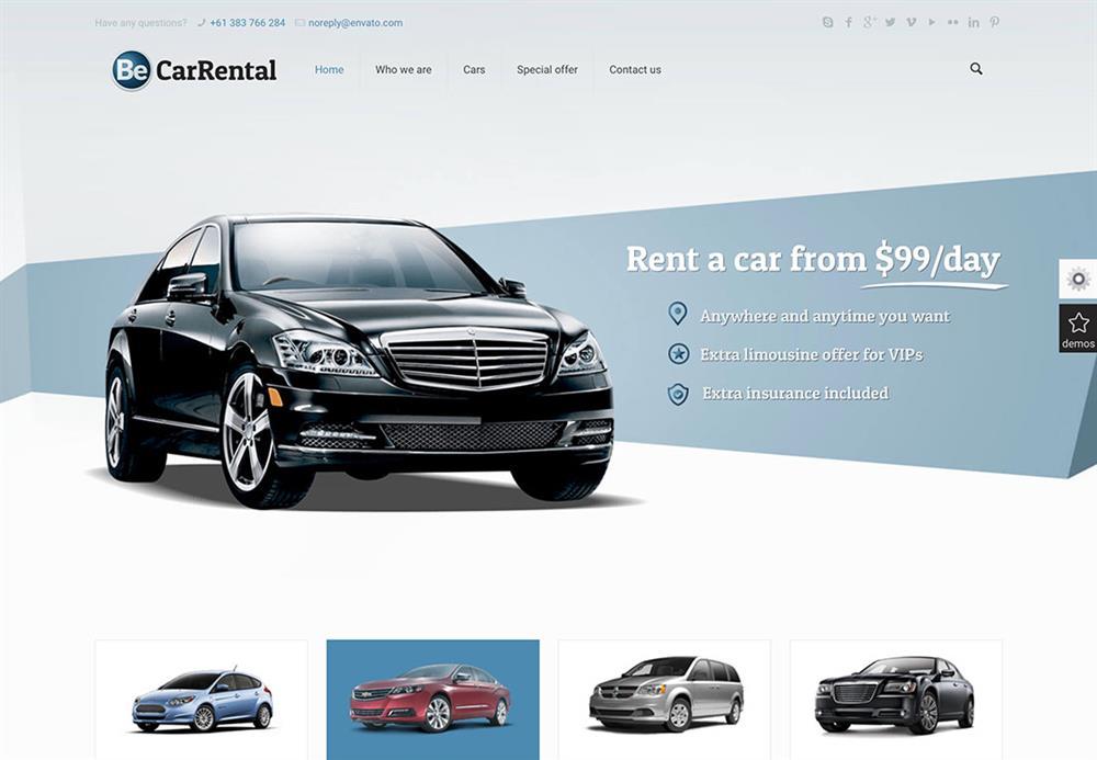 نمایشگاه شبانه روزی ماشین های اجاره ای با داشتن وب سایت