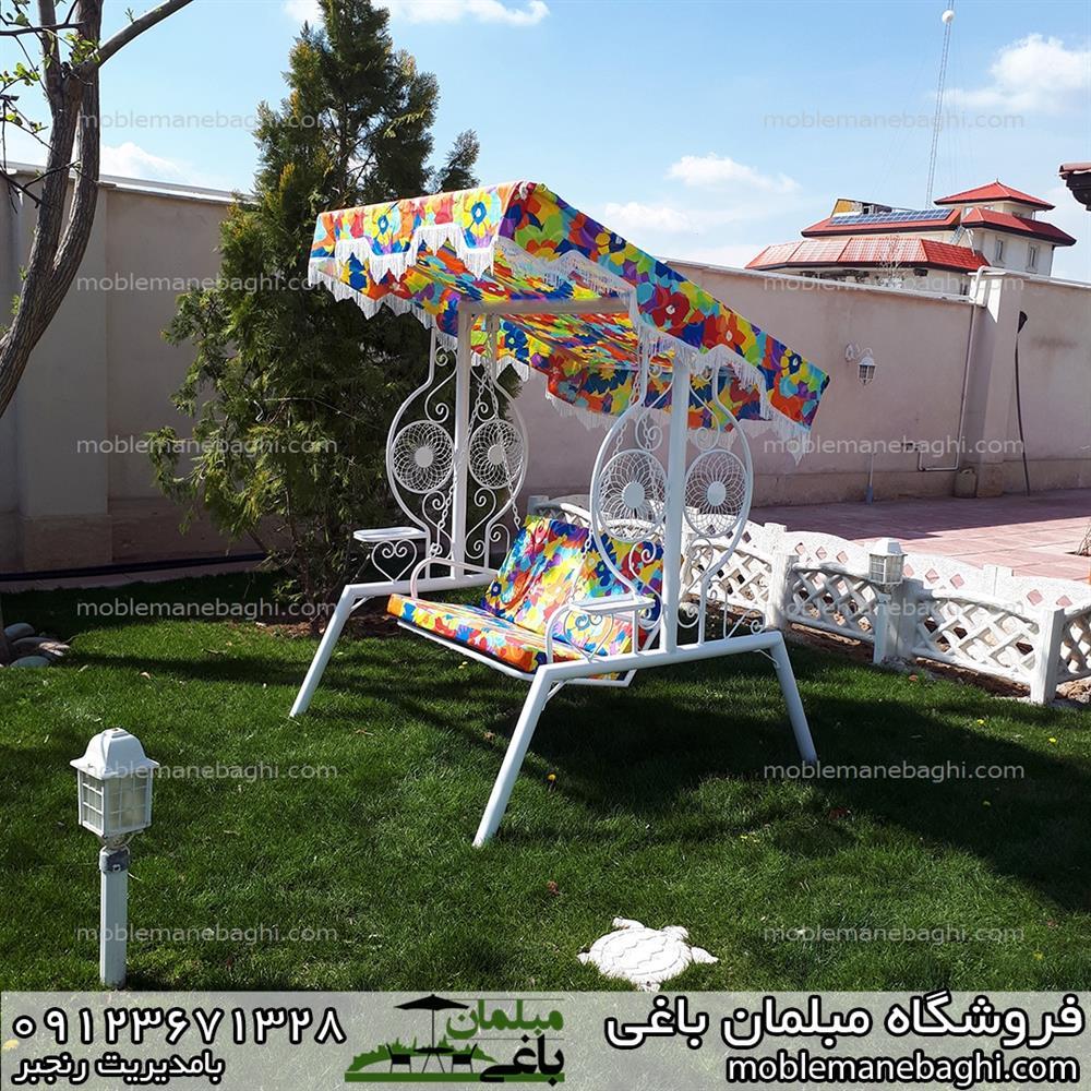 تاب باغی دونفره مدل خورشیدی با پوشش رنگ الکترواستاتیک و دارای سایهبان مناسب مناطق بارانی و مرطوب
