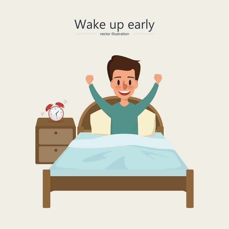 زود از خواب بیدار شدن