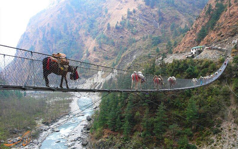 پل غسا در نپال