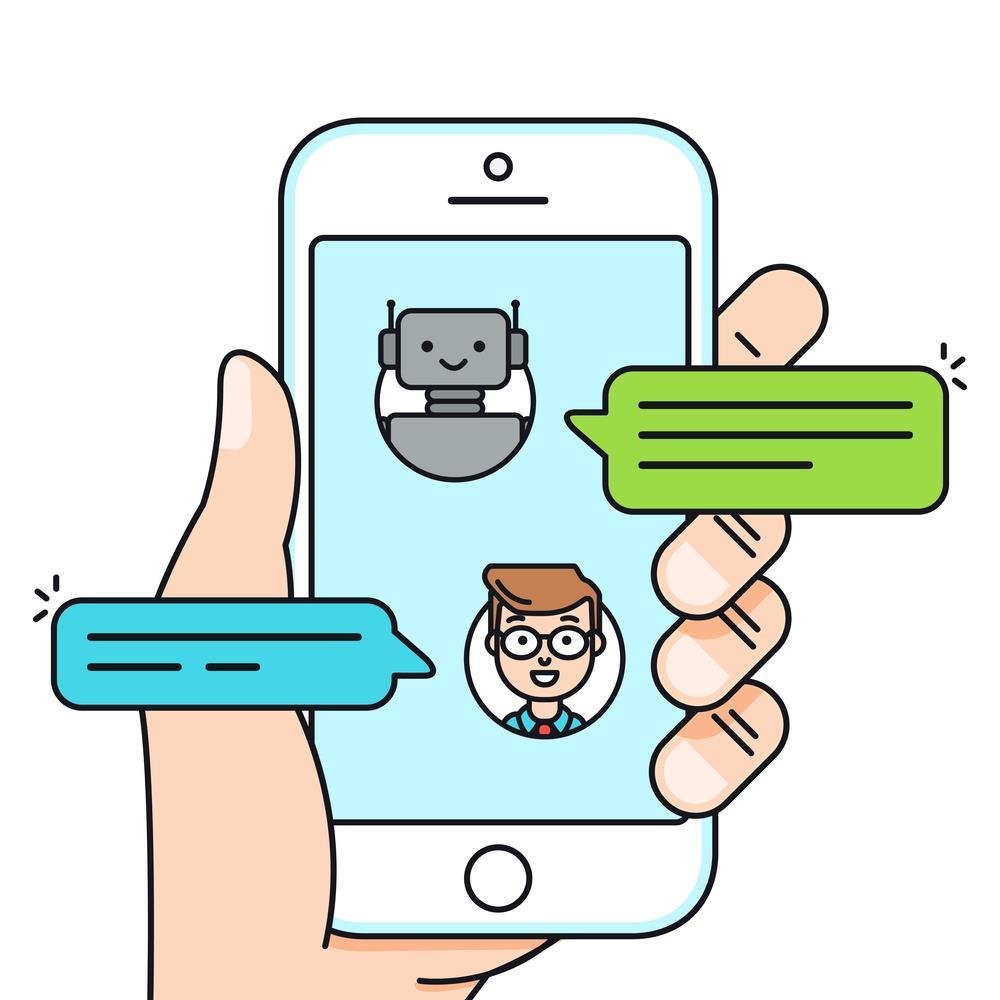 چت زنده ربات با کاربر