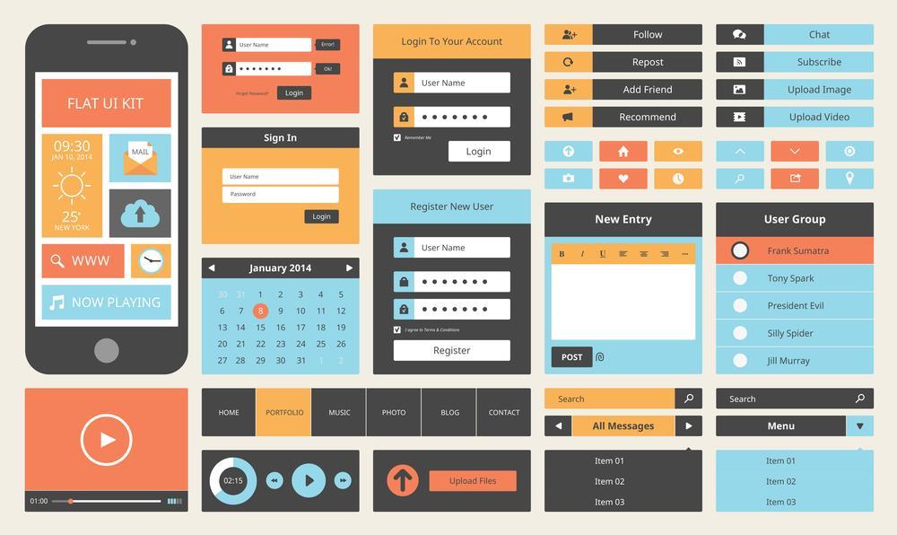 طراحی ساده و واضح برنامه