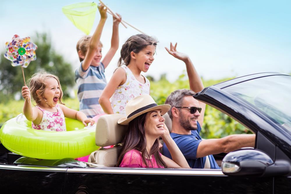 به تعطیلات رفتن با خانواده