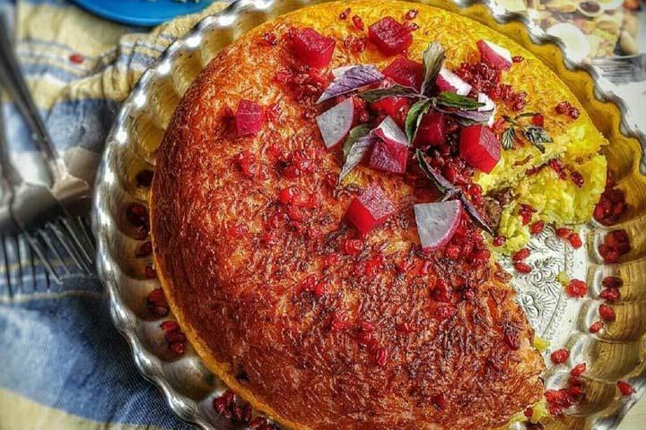 از غذاهای تهران (ته چین)