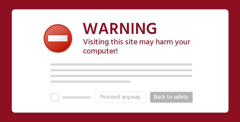 هشدار خطر برای سایت