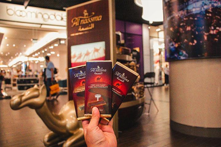 شکلات شتری از سوغات دبی